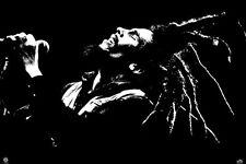 Bob Marley Black and White Poster Iconic Jamaican Bunny Wailer Judge Not Rasta!!
