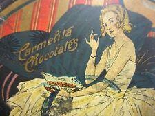 Old CARMELITA CHOCOLATES Tin Cupid Chocolates E. Greenfield's Sons New York