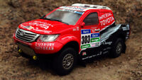 Toyota Hilux 2015 Dakar Rare Diecast Scale 1:43 New With Magazine & Stand