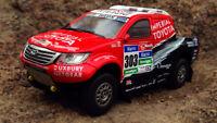 Toyota Hilux 2015 Dakar Rare Diecast Scale 1:43 New With Magazine & Stand