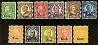"""Complete US #658-68 Mint-NH Set of 11 ~  """"Kans.""""  Overprints....Free Shipping"""