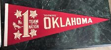 OKLAHOMA MID 1970s NATIONAL CHAMPS PENNANT