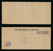 FIJI to HONG KONG MILITARY OFFICIAL RFMF AIRMAIL OHMS to RAF KAI TAK BFPO
