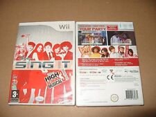 Nintendo Wii Disney Sing It High School Musical New & Sealed
