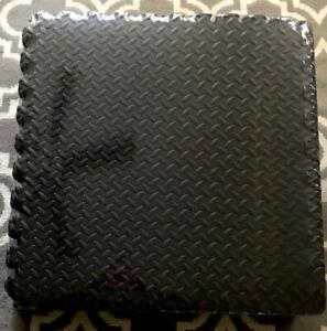 """Puzzle Exercise Floor Mat, EVA Interlocking Foam Tiles, 24"""" x 24"""" Pack Of 12"""