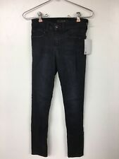 Joe's Jeans Women's Icon Midrise Skinny Ankle Black Didtressed Jean, Dannel, 25