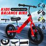 XMAS Gift - New 12'' Kids Balance Bike Classic No-Pedal Learn To Ride Pre Bike