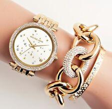Original Michael Kors Uhr Damenuhr MK3727 Darci Frabe:Gold NEU