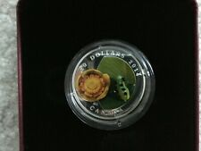 2014 Canada Water-lily and Leopard Frog Glass 1 oz $20 Silver Proof Coin