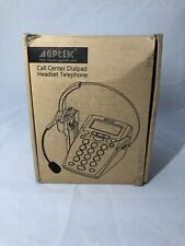 AGPtEK Corded Telephone with Headset & Dialpad for House Call Center Office