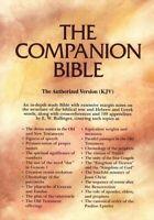 KJV Companion Bible, genuine leather, black, thumb-indexed