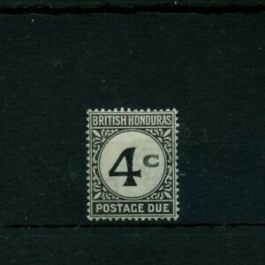 BRITISH HONDURAS 4 cent postage due Cat 200 pounds over $200 MLH