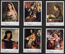 YEMEN 1967 ITALIAN PAINTINGS = RAPHAEL, RUBENS, CHARDIN, RENI, BIBLE/JUDAICA 3AA