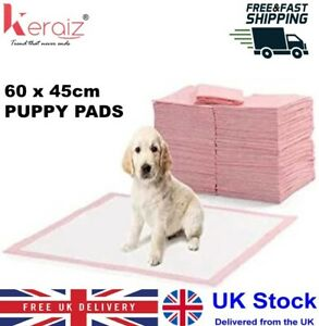 SUPER ABSORBENT  PUPPY PADS DOG WEE MATS FOR TRAINING,  60x45CM  50 100 150 200
