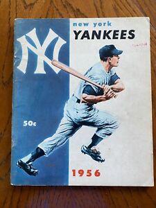 1956 NEW YORK YANKEES MLB YEARBOOK BASEBALL RARE GOOD CONDITION!