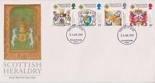 UNADDRESSED GB ROYAL MAIL FDC 1987 SCOTTISH HERALDRY STAMP SET FOLKESTONE PMK