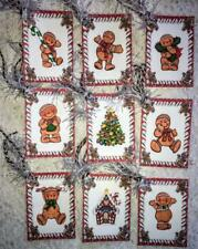 Set of 9 Hang Tags~Christmas Gingerbread Kids~Gift Tags~Scrapbooking~Card's~ #48T