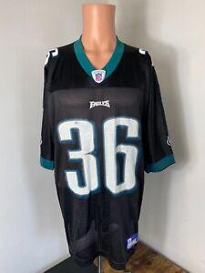 Reebok NFL Philadelphia Eagles men's black #36 Brian Westbrook football jersey L
