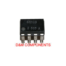 6N139 High Speed Optocoupler,100 kBd,Low In Current,Photodiode Darlington Output