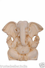 "3"" BIG EAR GANESHA GANESH STATUE HANDMADE POLY MARBLE HOME DECOR ART BEST GIFT"