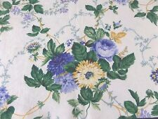 Waverly 1 Valance Blue Yellow Green Floral 100% Cotton 74 x 15.5 in. Vintage USA