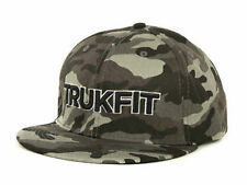 TRUKFIT ORIGINAL CAMO Snapback Hat Black Grey OSFA ($32) CAP Wayne Adjustable