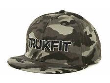 TRUKFIT ORIGINAL CAMO Snapback Hat Black Grey OSFA ($32) CAP Wayne Adjustable