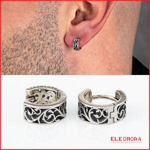 orecchini a cerchio per uomo cesare paciotti in argento 925 orecchino da con e