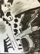 Expressionniste expressionnisme anonyme 1974 pastel et encre