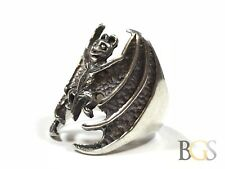Unique Mens SOLID Sterling Silver BAT Ring - Size 11 - MUST SEE MUST HAVE!
