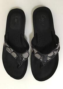 COACH JENCEY Signature Flip Flop Sandal Size 6B