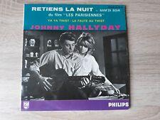 rare ! BANDE MAUVE/VIOLETTE JOHNNY HALLYDAY EP RETIENS LA NUIT