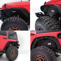 Rock Crawler Front+Rear Inner Fender Liner Combo kit for 07-18 Jeep Wrangler JK
