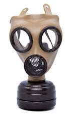 REALISTIC GAS MASK & FILTER WW2 1940s FANCY DRESS COSTUME RESPIRATOR NEW