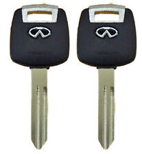 2 Transponder Chip keys For Infiniti FX35 FX 45 G35 M45 QX56 with ID 46 chip