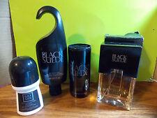 AVON BLACK SUEDE COLOGNE SPRAY, BODY WASH, TALC POWDER, ROLL-ON DEO
