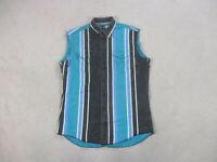 VINTAGE Wrangler Button Up Shirt Adult Extra Large Black Green Western Rodeo Men