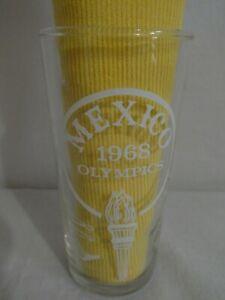 Vintage 1968 Olympic Games Mexico Glass Swanky Swig Tumbler Souvenir