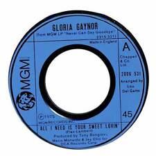 "Gloria Gaynor - All I Need Is Your Sweet Lovin' - 7"" Record Single"
