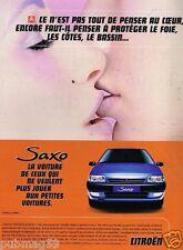 Publicité Advertising 1996 Citroen saxo