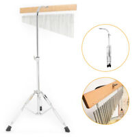 New Stainless Steel 36 Tone Music Chime Single-Row Kit W/ Tripod Stand 70.5x15cm