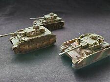 Panzer Mark Iv German Tanks x3 Platoon Flames Of War painted battlefront Fow