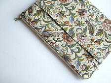 Birds MacBook Air/Pro 13 sleeve, case, cover with pockets, upholstery, beige