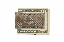 Multi-Color Brown Genuine Python Skin Magnetic Money Clip MADE IN THE USA
