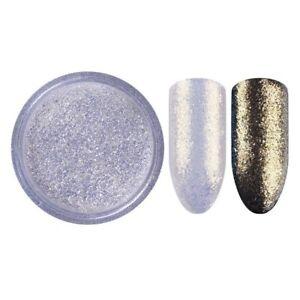 Sparkling Gold Pearl White Nail Pigment Mirror Powder Eyes Effect Art Glitter UK