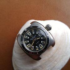 Vintage Womens Jules Jurgensen 20 ATM Divers Watch w/HEV Crown,Patina FOR REPAIR