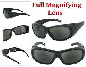 1 or 2 Pairs Full Magnifying Lens Safety Reader Glasses Z87+ Reading Sunglasses
