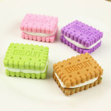 4 PCS/Set Funny Cookies Rubber Eraser School Office Erase Supplies Kids Gifts