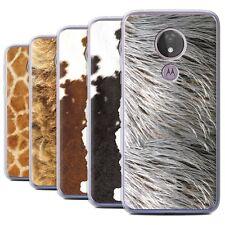 STUFF4 Gel/TPU Case/Cover for Motorola Moto G7 Power/Animal Fur Effect/Pattern