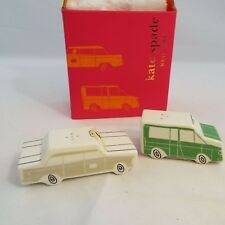 LENOX KATE SPADE Hopscotch Drive About Town TAXI CAR SALT PEPPER Shakers Set NIB